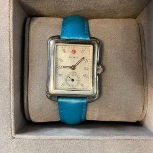 Michele diamond dial watch